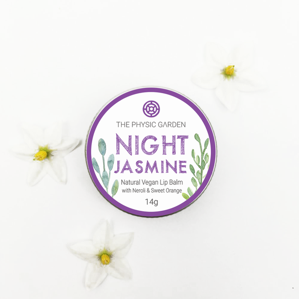 Sale - Night Jasmine Lip Balm 14g - Natural, Vegan, Made in Melbourne, Australia