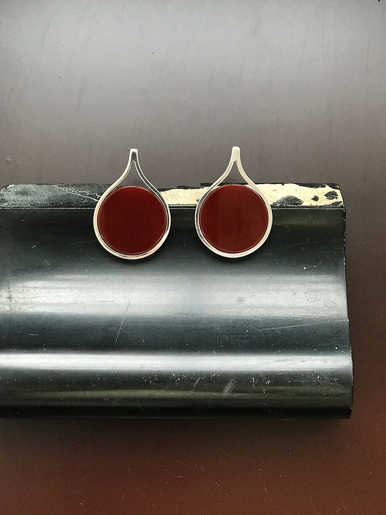 FIRM FLAT CARNELIAN EARRINGS