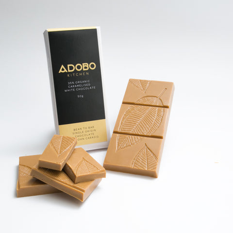 35% Organic Caramelised White Chocolate