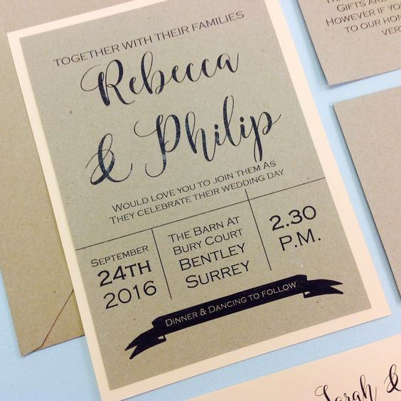 Jazz it up! Simple ways to pimp up an inexpensive wedding invitation