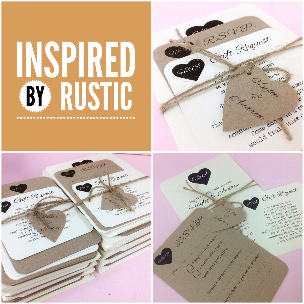 Inspired by RUSTIC - Inspirational ideas for your Rustic Wedding
