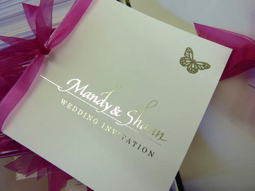 REAL WEDDING - Shaun & Mandy Hot Pink and Silver Foil Wedding theme