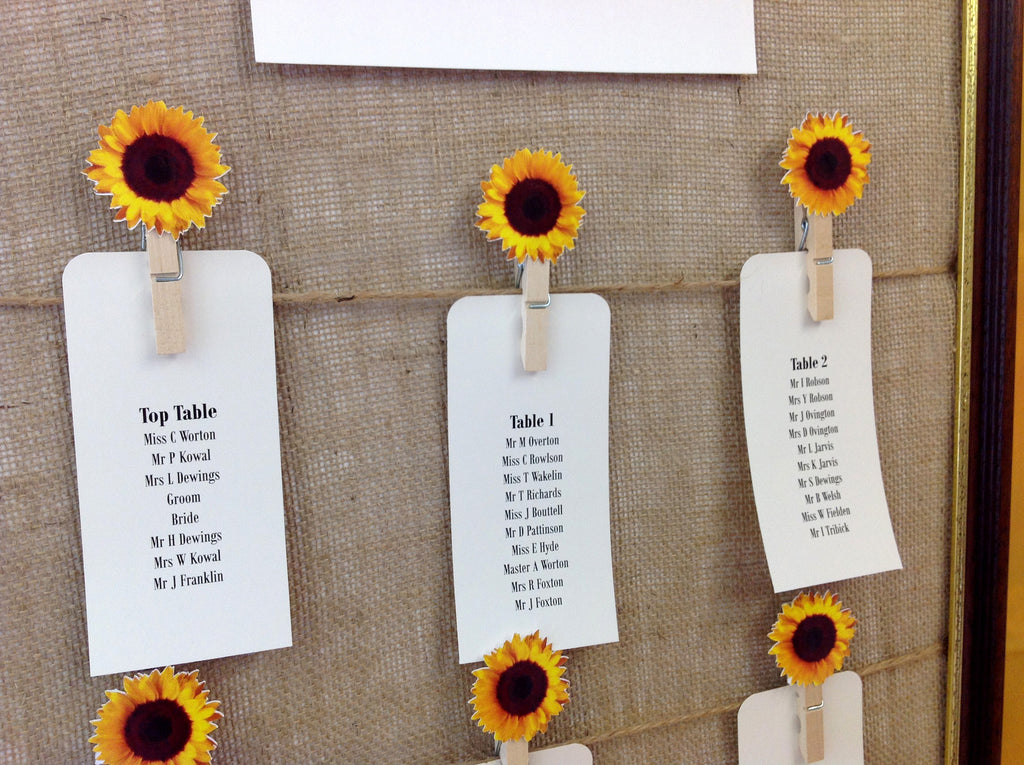 How to order a Table Seating Plan from Inspired by Script