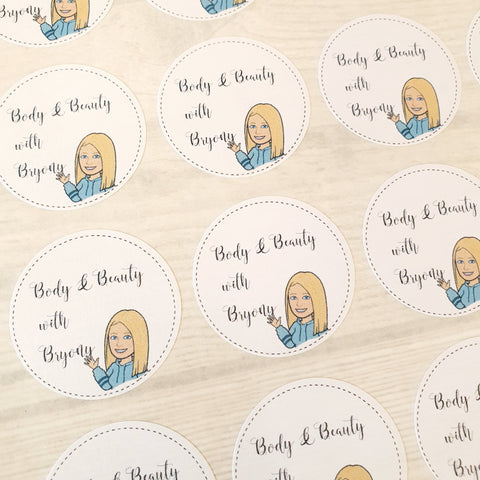 Personalised Round Stickers Name or Monogram Stickers