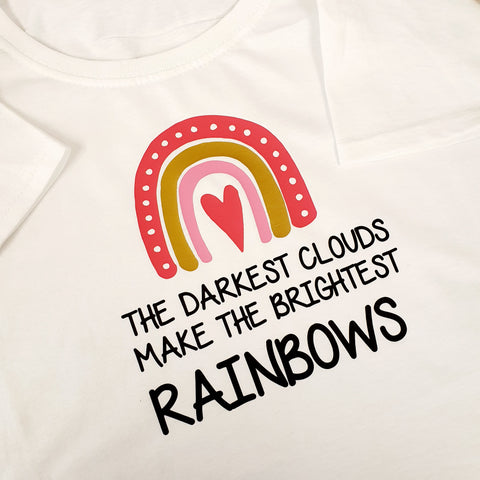 PINK & GOLD RAINBOW LADYFIT T-SHIRT