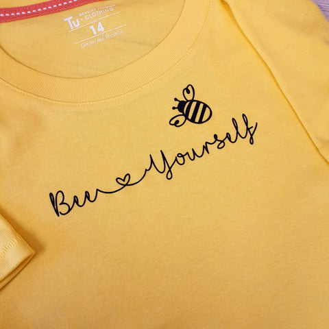 LADYFIT T-SHIRT - BEE YOURSELF - BEE ATTITUDES COLLECTION