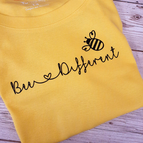 LADYFIT T-SHIRT - BEE DIFFERENT - BEE ATTITUDES COLLECTION