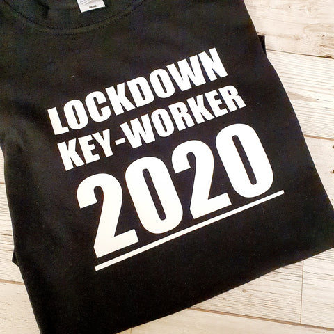 LOCKDOWN KEY-WORKER 2020  MENS/UNISEX T-SHIRT
