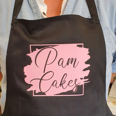Personalised Apron with adjustable neck strap