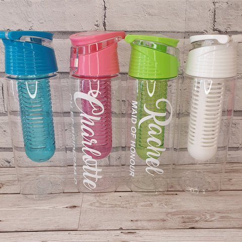 PERSONALISED FRUIT INFUSER WATER BOTTLE