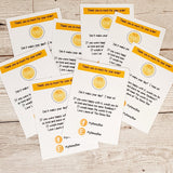 A7 PRODUCT BUSINESS REVIEW CARDS 10.5cm x 7.4cm