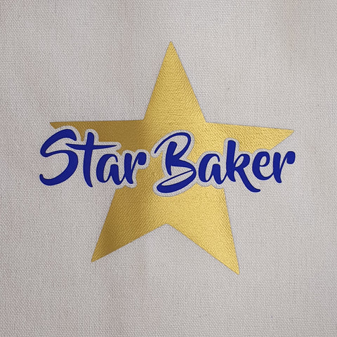 CHILDRENS APRON - BLUE STAR BAKER
