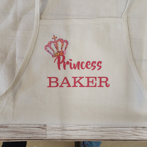CHILDRENS APRON - PINK PRINCESS BAKER