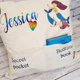 DOUBLE POCKET PERSONALISED CUSHION COVER - MERMAID