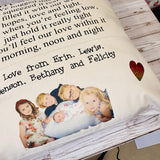 DOUBLE POCKET PERSONALISED CUSHION COVER - HUG CUSHION WITH PHOTO