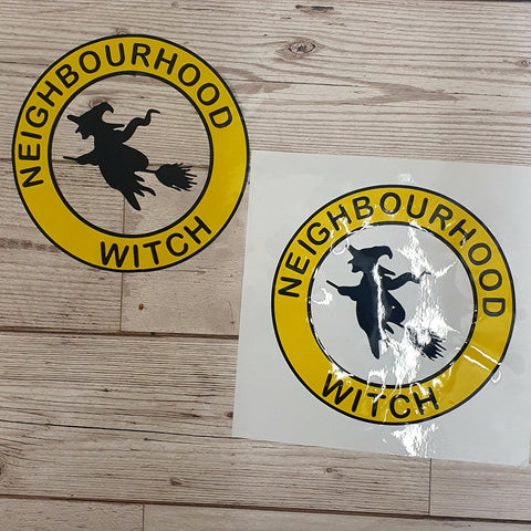 NEIGHBOURHOOD WITCH VINYL DECAL FOR WINDOW CAR LAPTOP MIRROR DRINKS BOTTLE