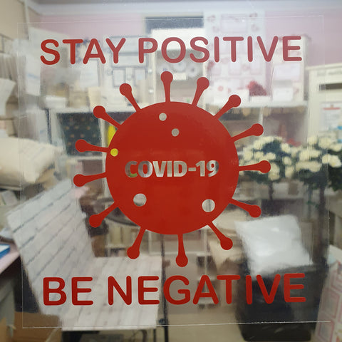 STAY POSITIVE BE NEGATIVE DECAL FOR WINDOW CAR LAPTOP MIRROR DRINKS BOTTLE