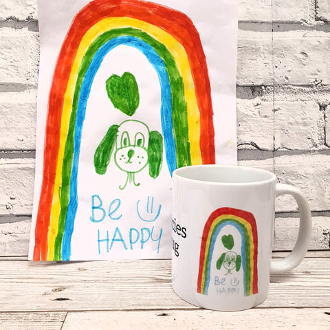 PERSONALISED CHILDRENS ARTWORK MUG / COASTER