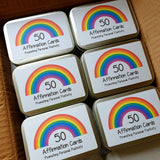 50 AFFIRMATION CARDS IN TIN