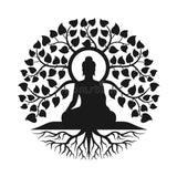 MEDITATION TREE OF LIFE VINYL DECAL FOR WINDOW CAR LAPTOP MIRROR DRINKS BOTTLE