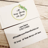 Business cards 10.5cm x 5.9cm