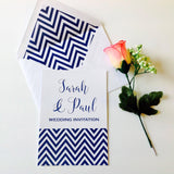 CHEVRON DESIGN WEDDING INVITATION & STATIONERY BUNDLE