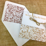 All-in-One Burlap & Lace Design Wedding Invitation, Stationery & Matching Accessories