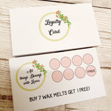 Small Cards - Loyalty Cards - 10.5cm x 5.9cm