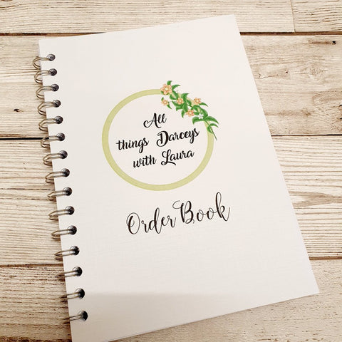 SMALL BUSINESS LOGO A5 ORDER BOOK