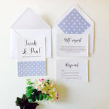 BABY BLUE POLKA DOT DESIGN  WEDDING INVITATION BUNDLE