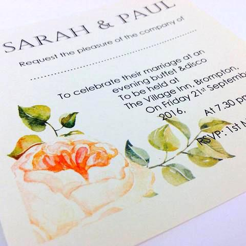 PEACH ROSE WEDDING INVITATION & STATIONERY BUNDLE
