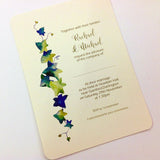 IVY DESIGN PERSONALISED, FLAT WEDDING INVITATION BUNDLE - IVORY