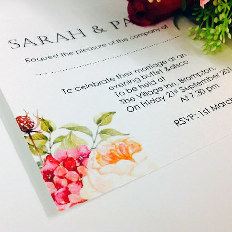 ENGLISH ROSE WEDDING INVITATION & STATIONERY BUNDLE