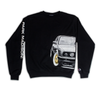 PMNYC GOLD BBS x CHAMPION CREW NECK (BLACK)