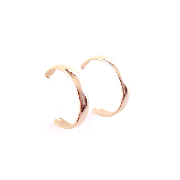 Medium Hoop Earrings in Rose Gold