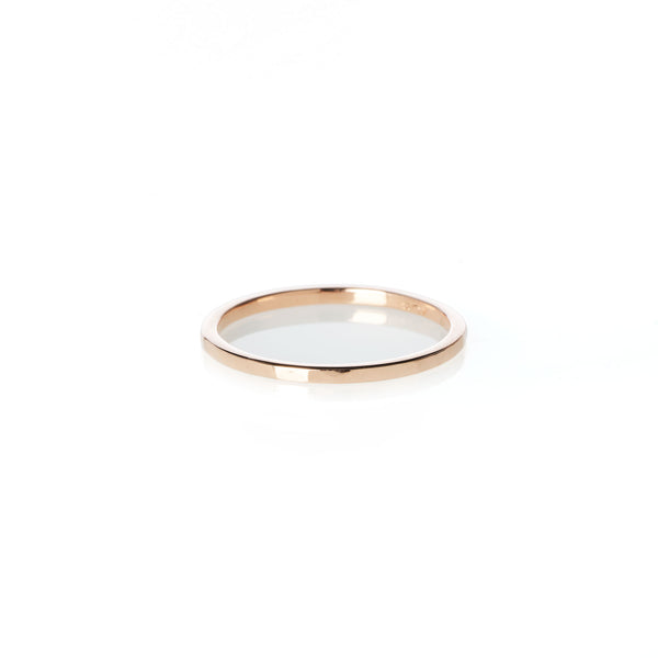 Hammered Band in Rose Gold