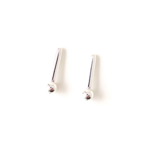 The Droplet Earrings in Silver