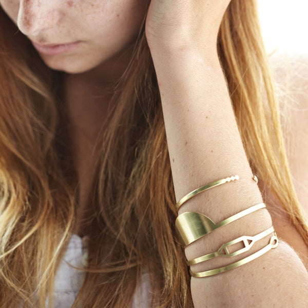 Half Sun Brass Bangle