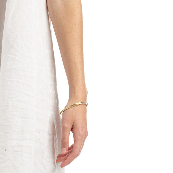 Striped Brass Bangle