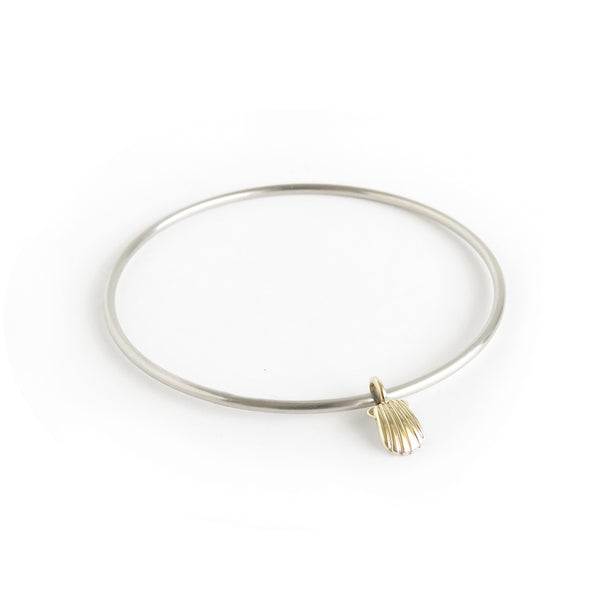 The Shell Bangle in Brass and Silver