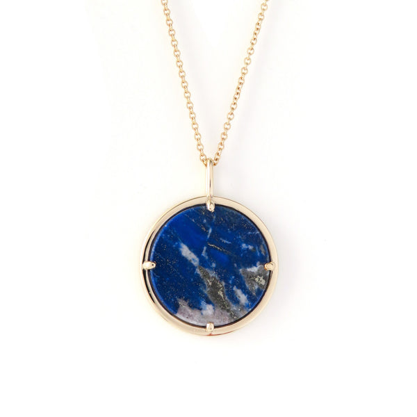 The Cosmos Pendant in Yellow Gold with Lapis Lazuli