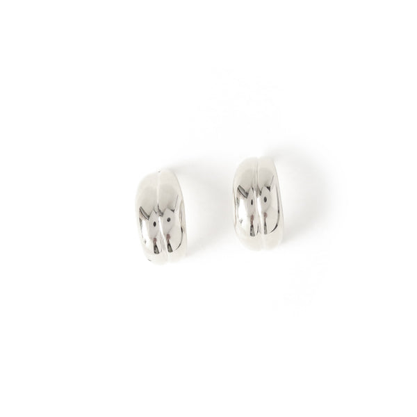 The Fold Earrings in Silver