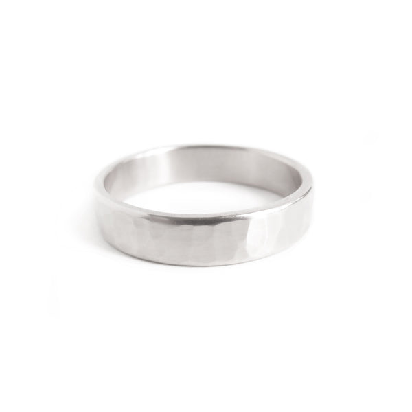 Men's Hammered Band in Silver