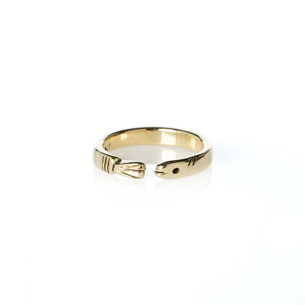 Life of Pi Flying Fish Ring Yellow Gold