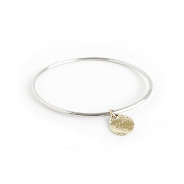The Shore Bangle in Brass and Silver