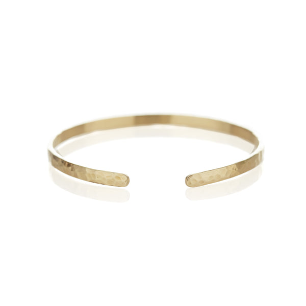 Hammered Cuffed Bangle