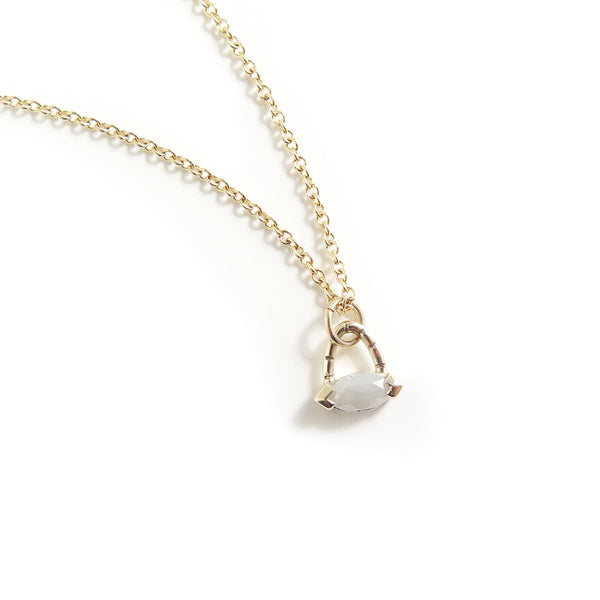 Pale Grey Marquise Diamond Pendant
