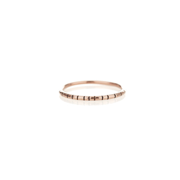 Rose Gold Striped Ring