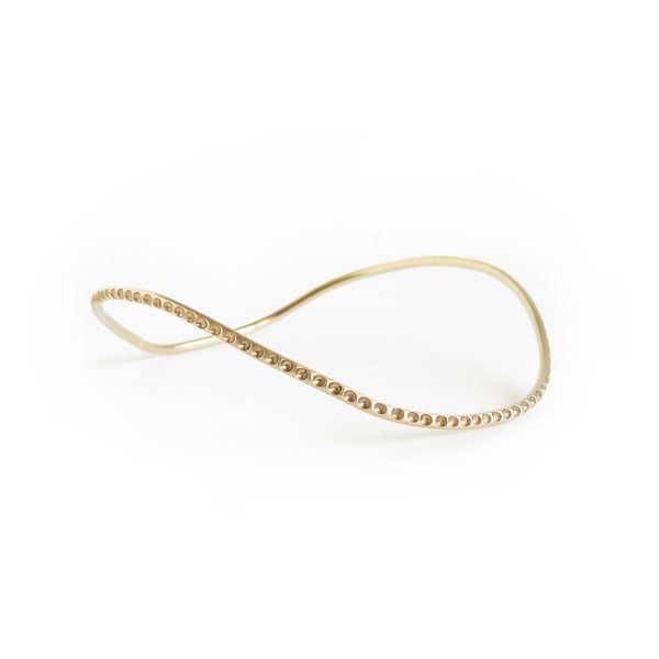 The Octopus Bangle in Brass