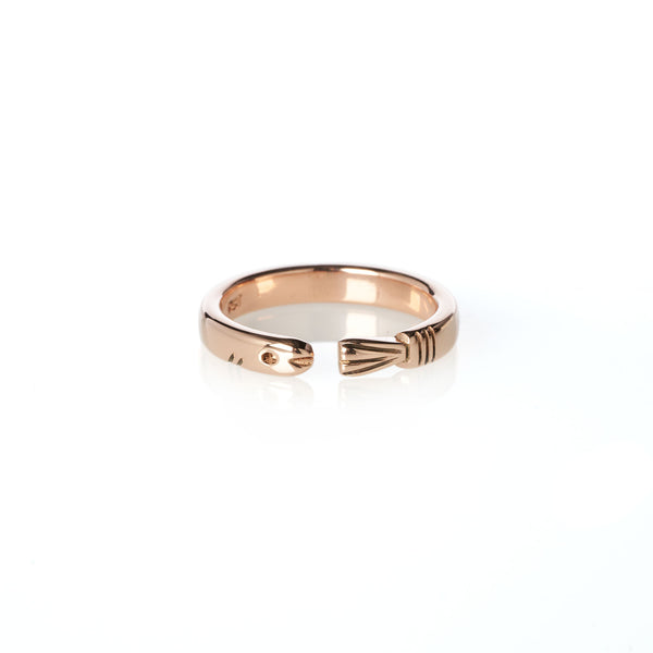 Life of Pi Flying Fish Ring in Rose Gold